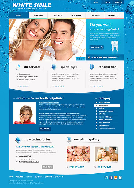 Dentist website template | Best Website Templates