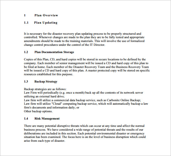 Disaster Recovery, Disaster Recovery Plan | Free & Premium Templates