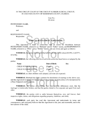 divorce agreement template divorce agreement template 12 free word