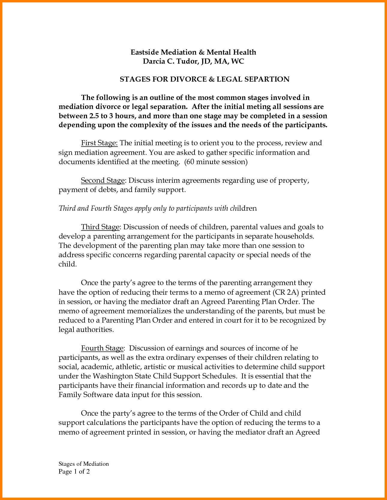 6 divorce settlement agreement sampleReport Template Document