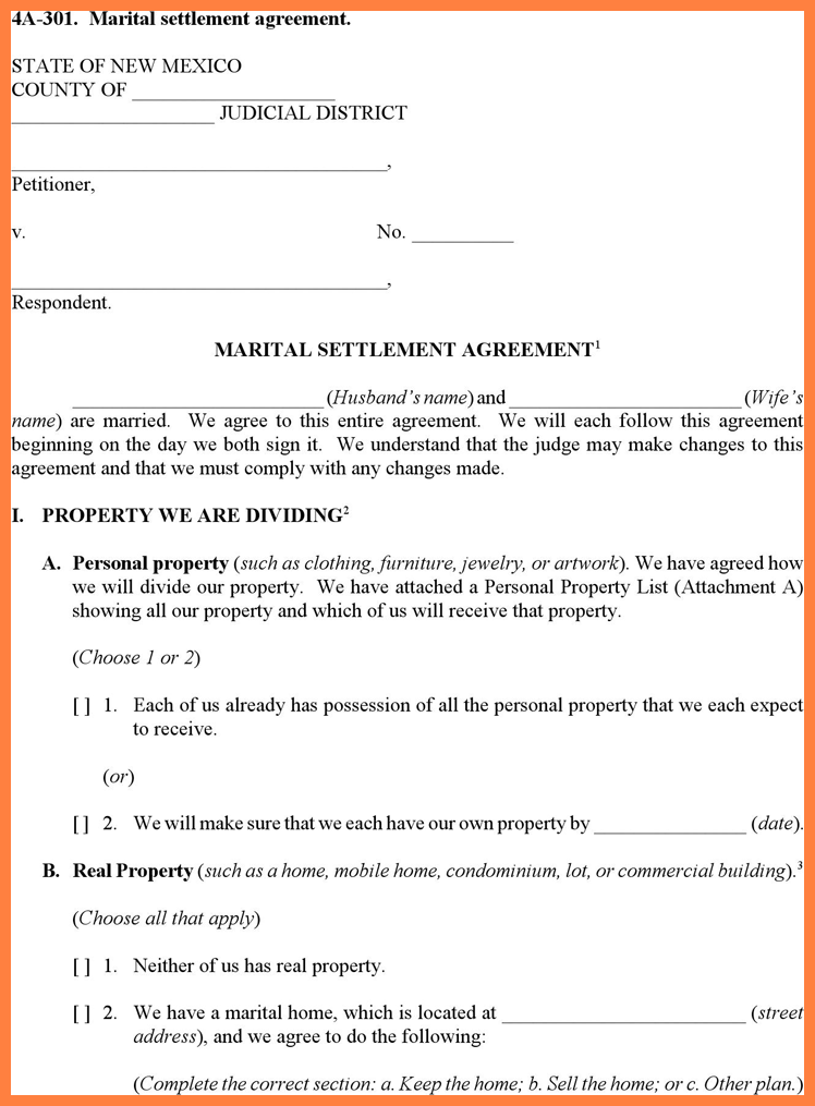 divorce settlement agreement sample   Manqal.hellenes.co