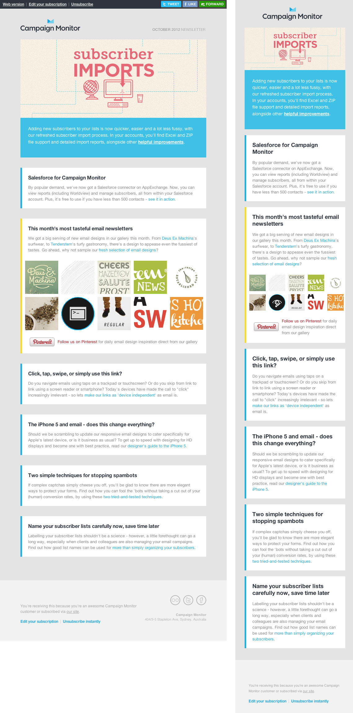 Email Newsletter Design: Guidelines And Examples — Smashing Magazine