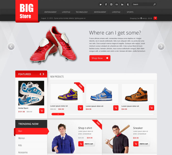 70+ Best Ecommerce Website Templates Free & Premium   freshDesignweb