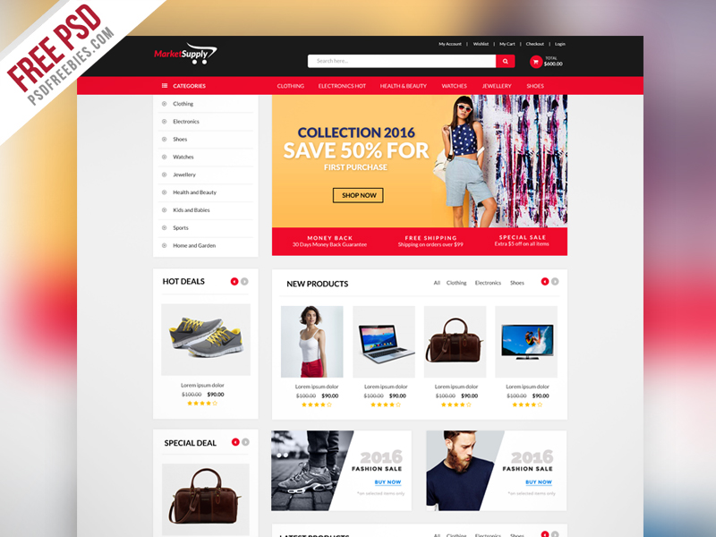 10+ Ecommerce Website Templates & Themes |Free & Premium | Free