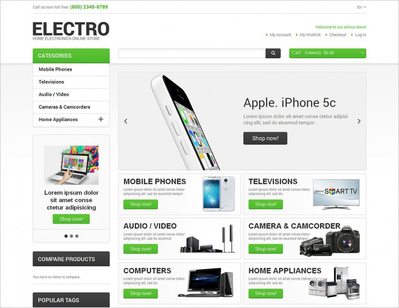 Download Joomla E Commerce And Shoppingcart Website Templates