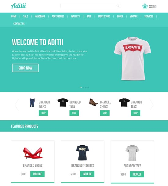 Free HTML Website Template | Download E commerce HTML Website