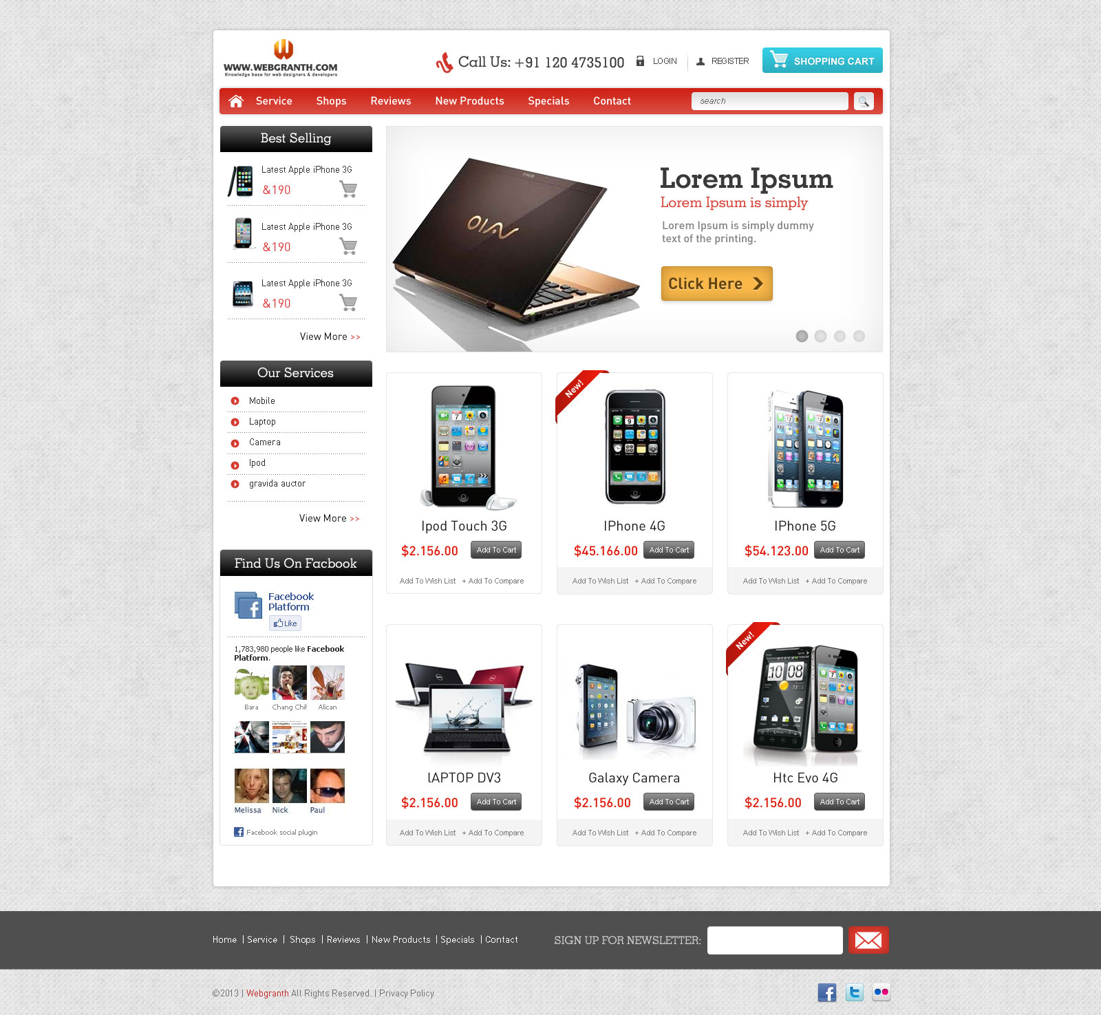 10+ Free Ecommerce Website Templates & Themes | Free & Premium