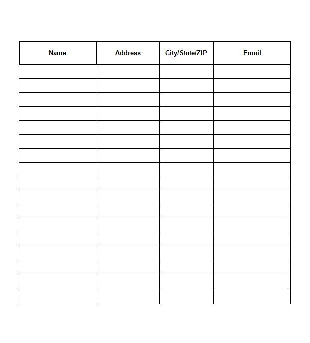 Email Sign Up Sheet Template Collection Of solutions Email Signup
