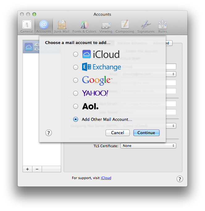 Configure Apple Mail   TCAPPS New