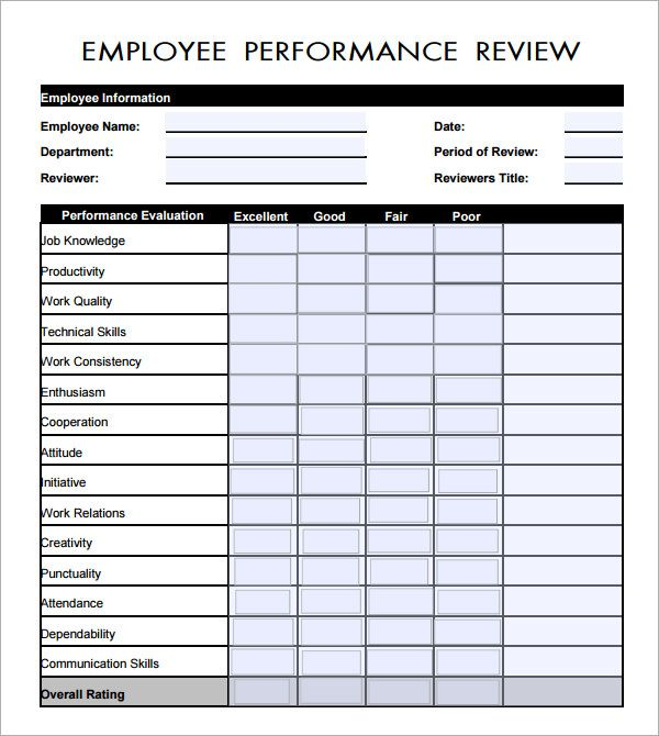 Employee Evaluation Form PDF | Employee Evaluation Form   17+