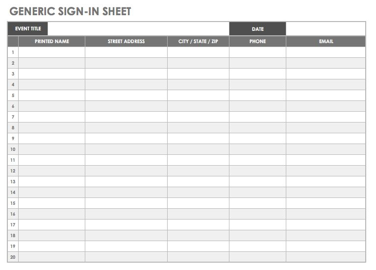 free sign in sheet template sign in sheet templates 68 free word