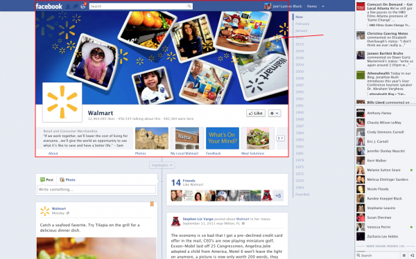 Facebooks New Business Page Design with Timeline Layout, Landing Page