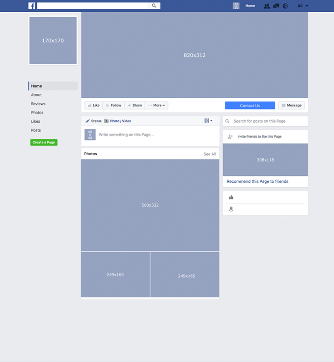 Facebook Business Page Template | Business Templates