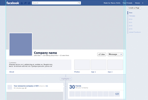 facebook page template psd   Physic.minimalistics.co