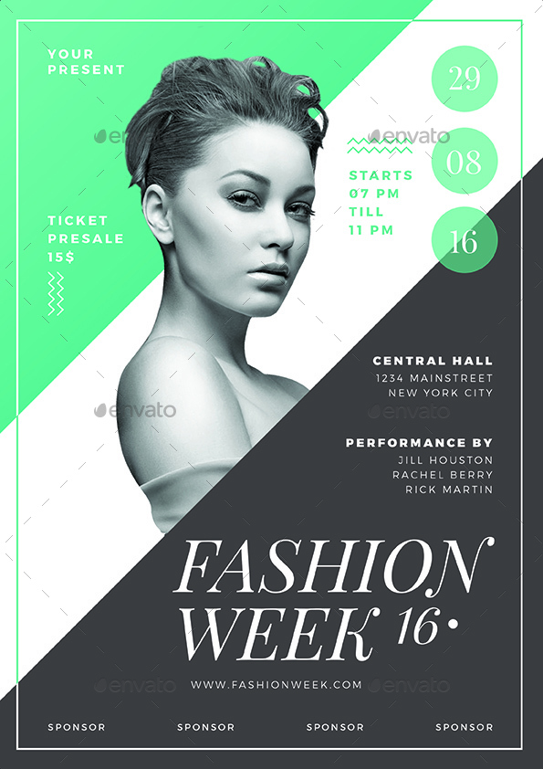 fashion show flyer   Physic.minimalistics.co