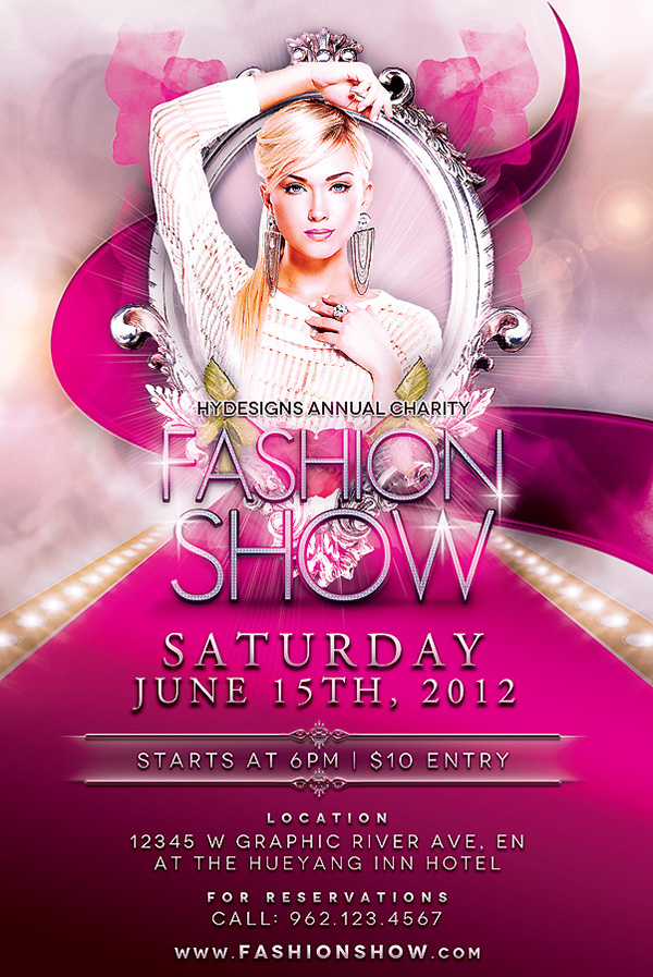 Fashion Show flyer template on Behance