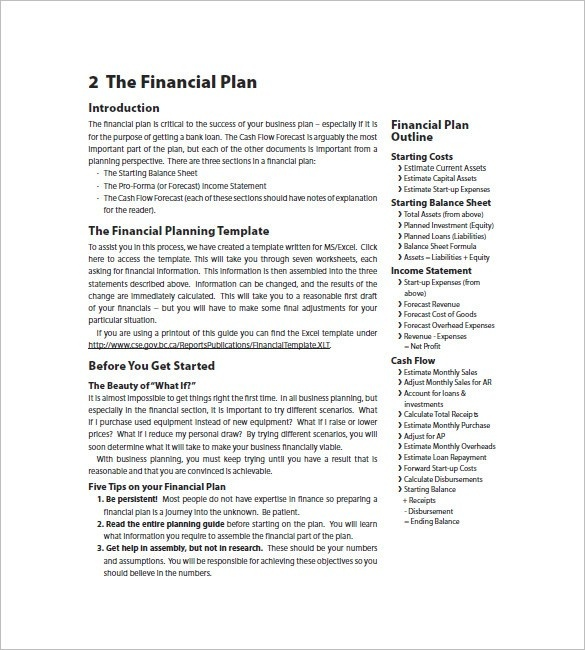 Business Plan Template Investment Advisor   Templates : Resume
