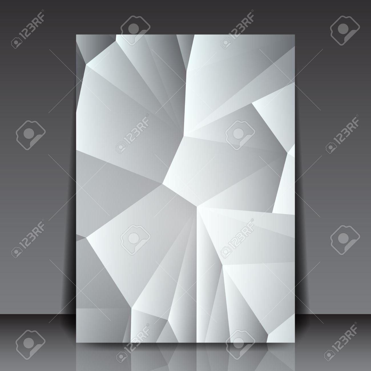 Abstract Triangle Flyer Background Paper Layout Design