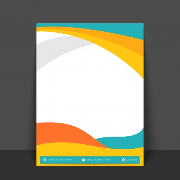 Abstract Flyer, Template or Banner design with colorful waves and