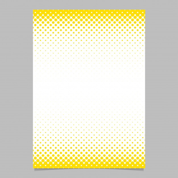 Abstract halftone circle pattern page, brochure template   vector
