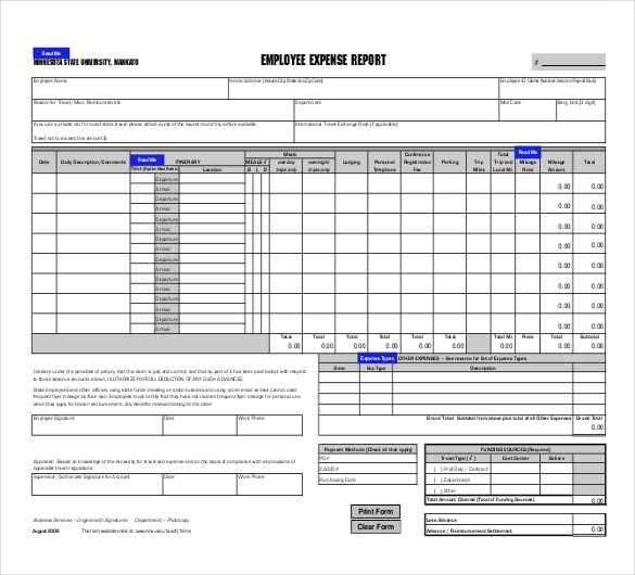 free expense report template or sales activity tracking