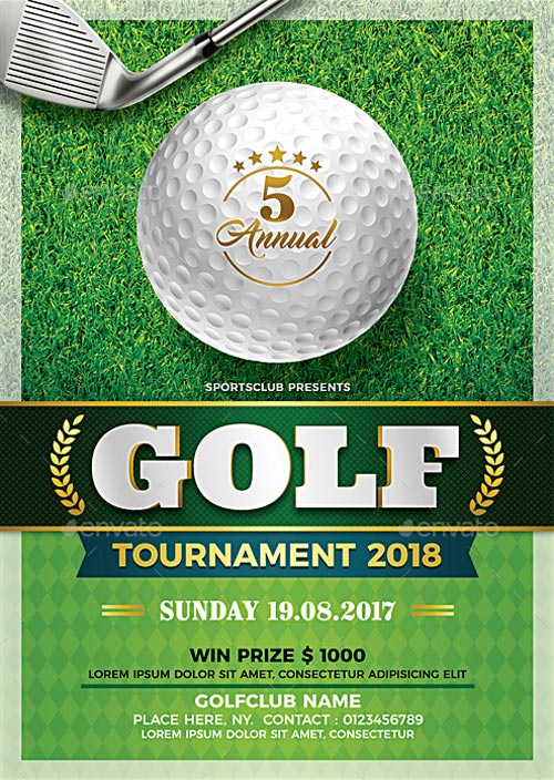 Golf Tournament Flyer Template   Download Flyer Templates for