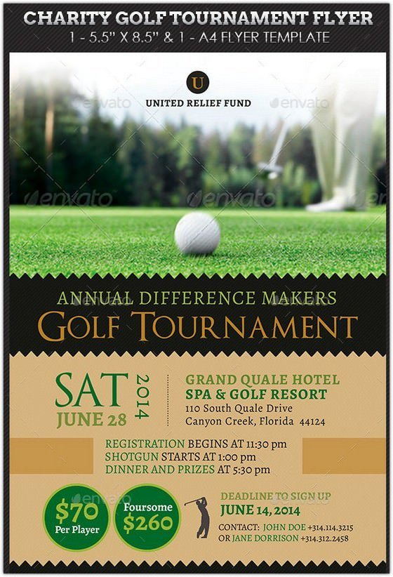 golf tournament brochure template free free golf tournament flyer