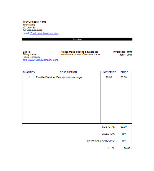 Google Templates Invoice Simple Invoice Template For Excel