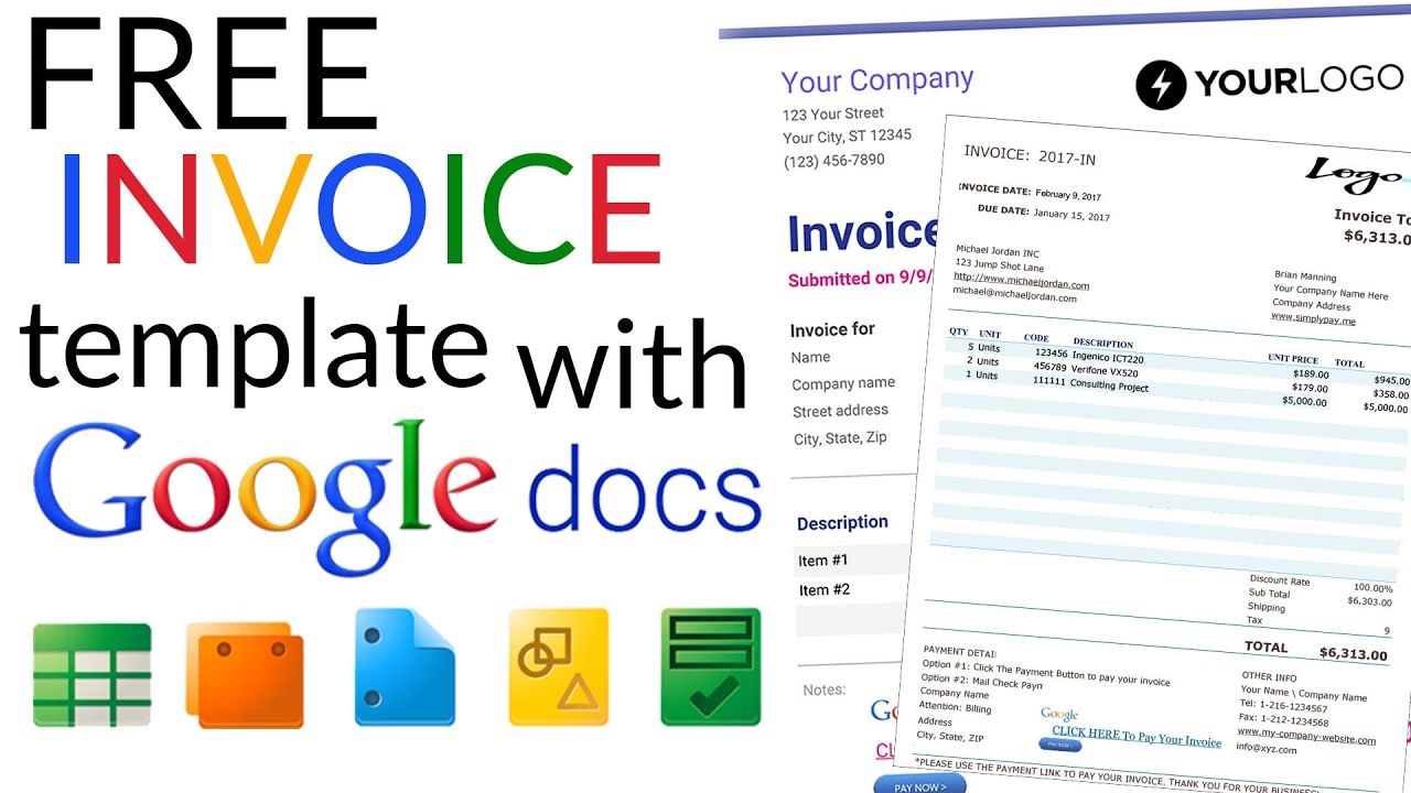 google docs service invoice , Download Invoice Template Google