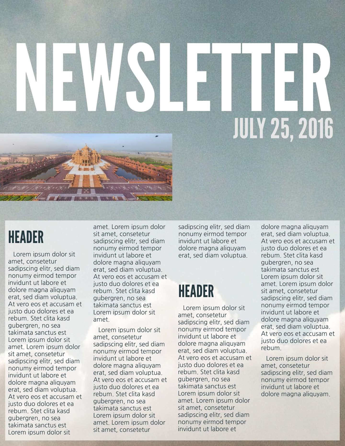 Free Printable Newsletter Templates & Email Newsletter Examples