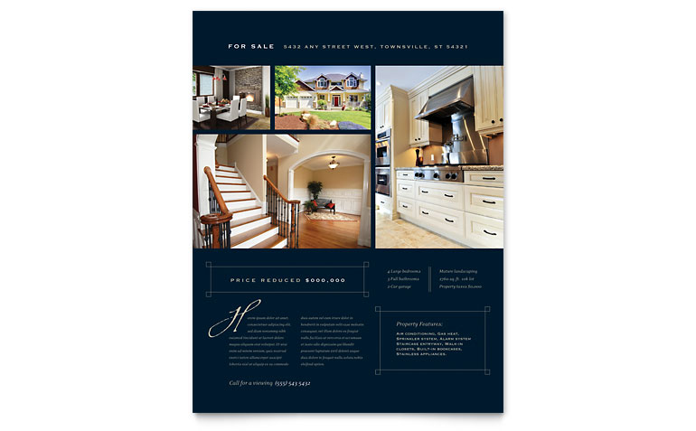 realtor brochures free templates real estate brochure template