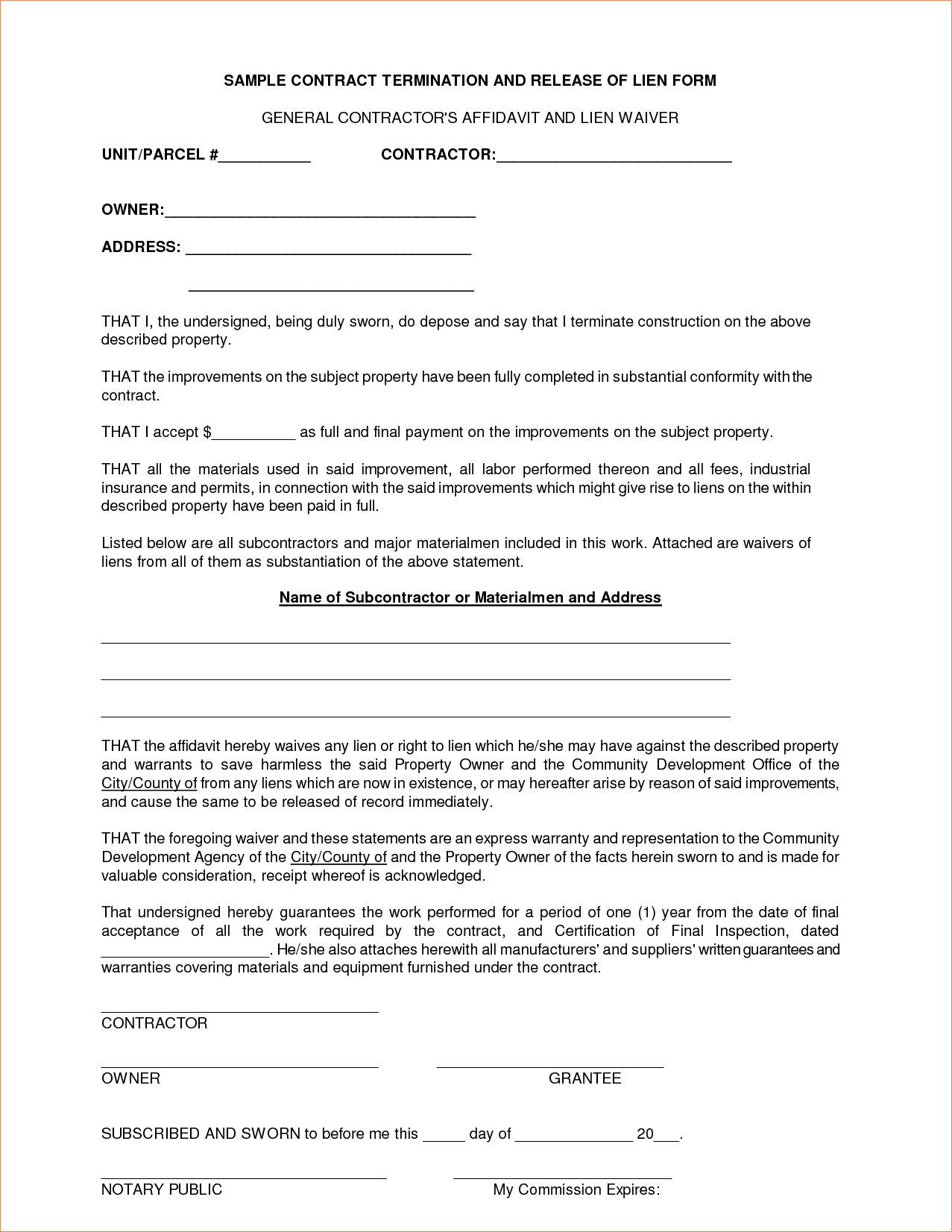 22 Images of General Contract Template   leseriail.com