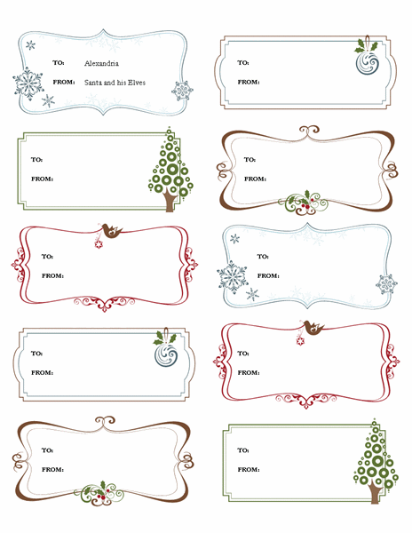 free printable gift tag templates for word 23 microsoft label
