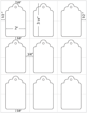 Printable gift tag. Just copy and paste into a document, then ad