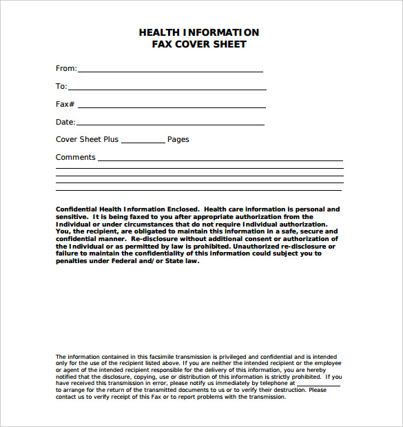 Medical Fax Cover Sheet – 10+ Free Word, PDF Documents Download