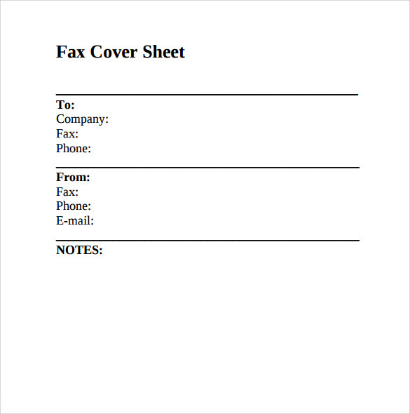 Health Information Fax Cover Sheet Templates   Fillable