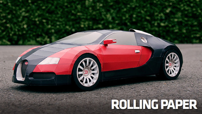 How To Make A $1.6 Million Bugatti Veyron Out Of Paper