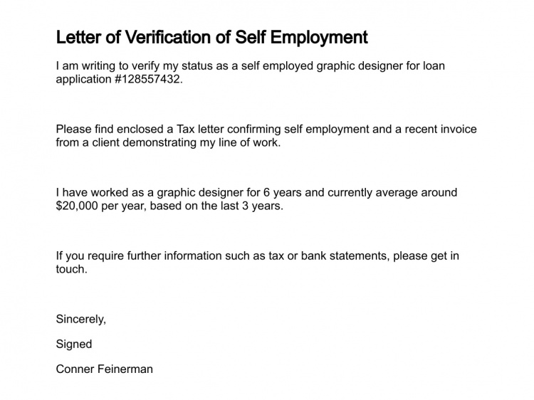 How To Write A Letter Of Self Employment Image collections