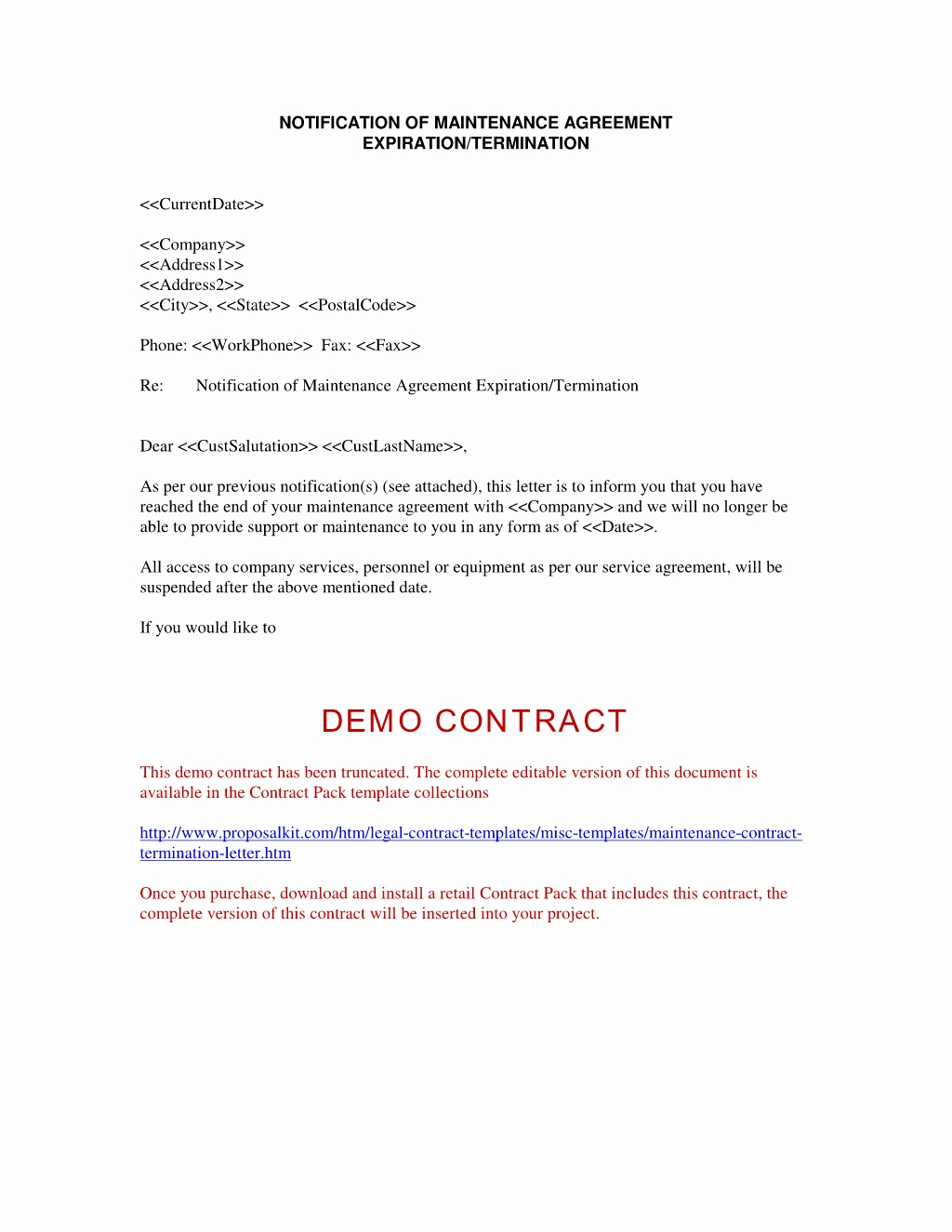 independent contractor termination letter sample   Roho.4senses.co