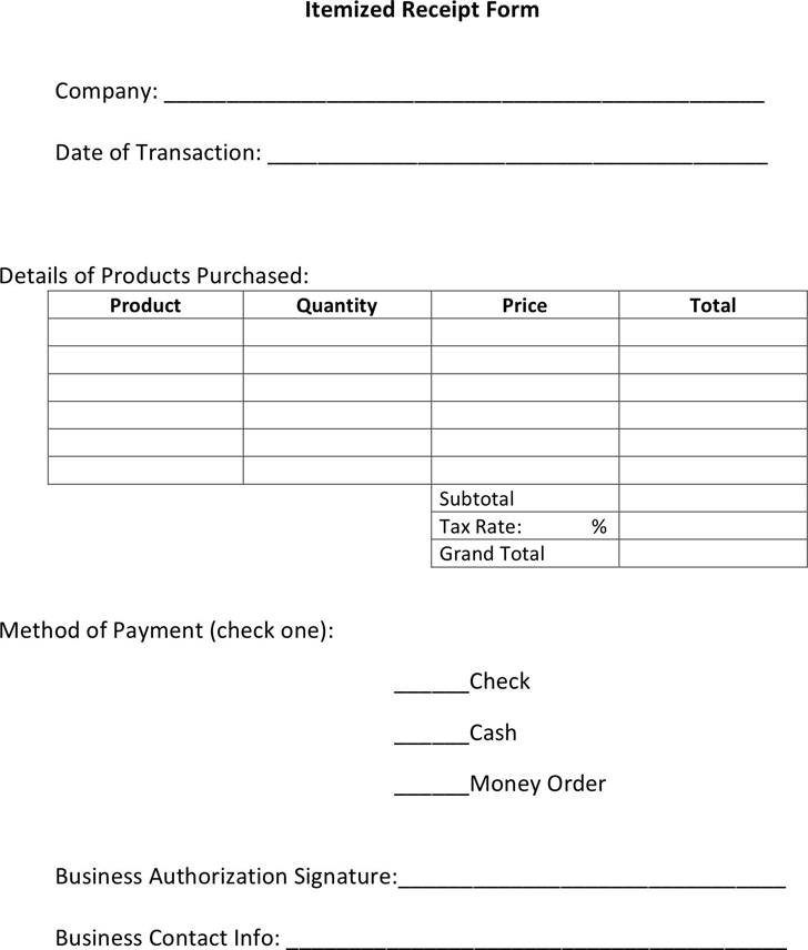 Itemized Invoice Template Invoice Example Itemized Bill Example