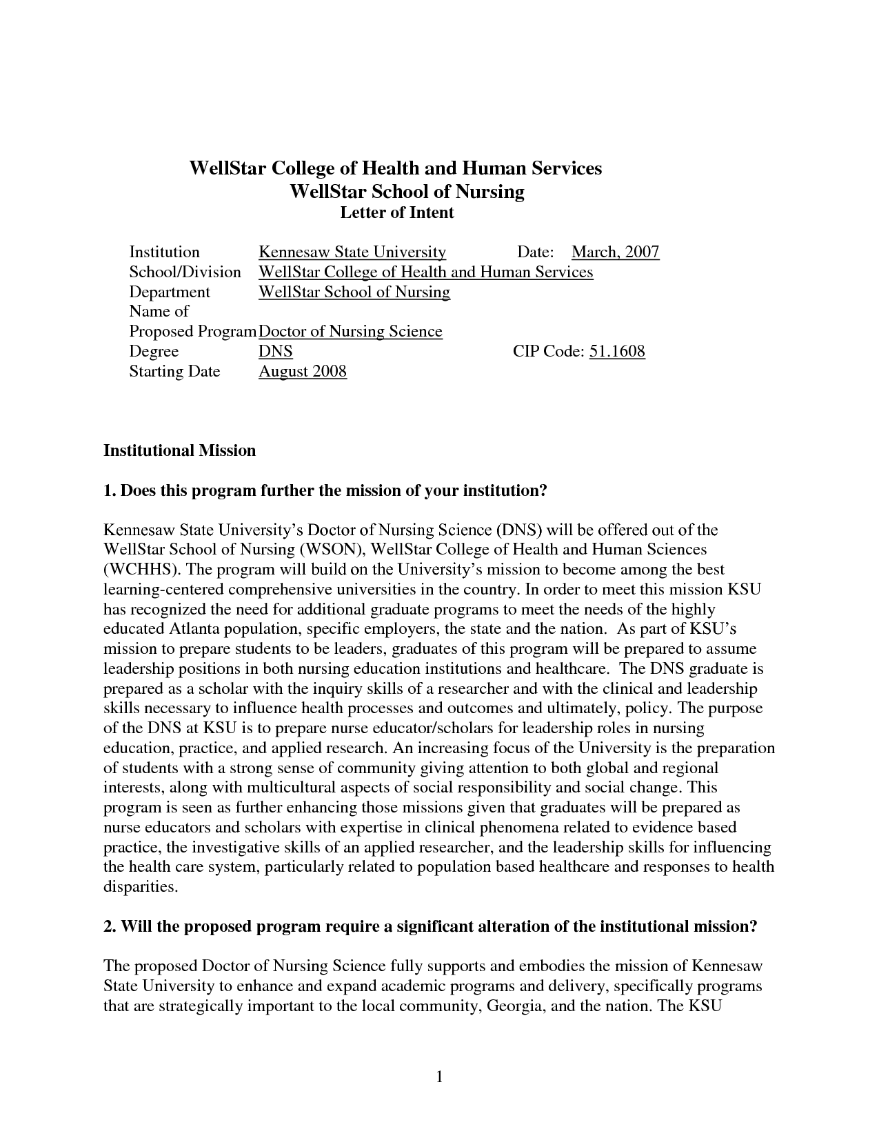 Collection Of solutions Letter Of Intent Graduate School Examples