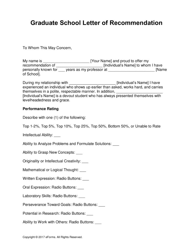 letter of recommendation for masters program from employer
