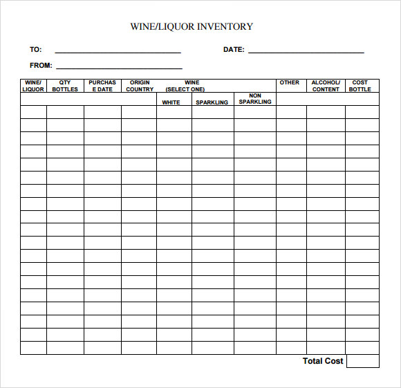beer inventory spreadsheet free   SampleBusinessResume.