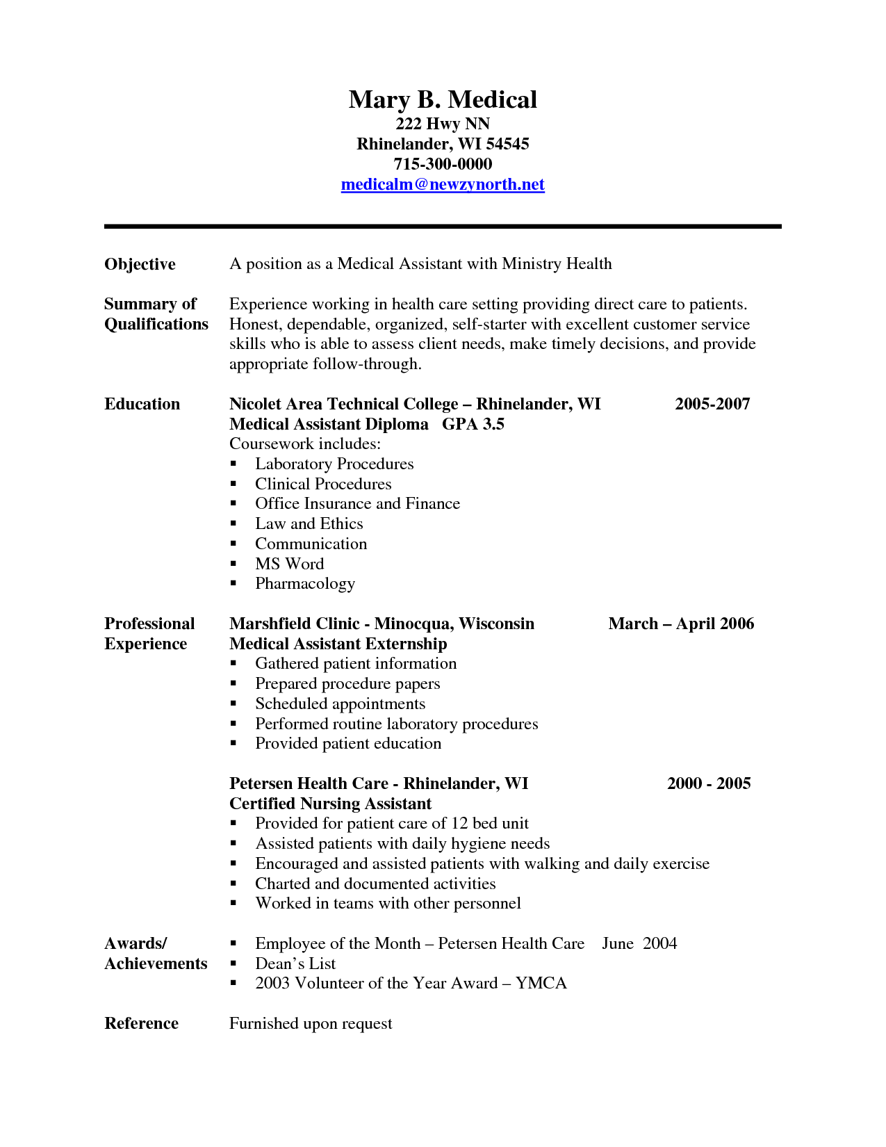 Medical Assistant Skills And Medical Support Assistant Resume