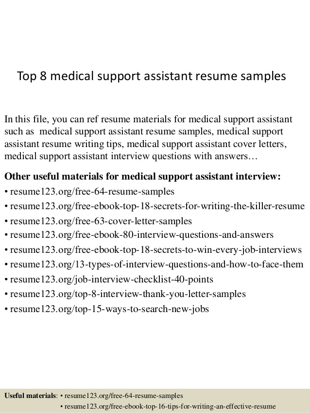 top 8 medical support