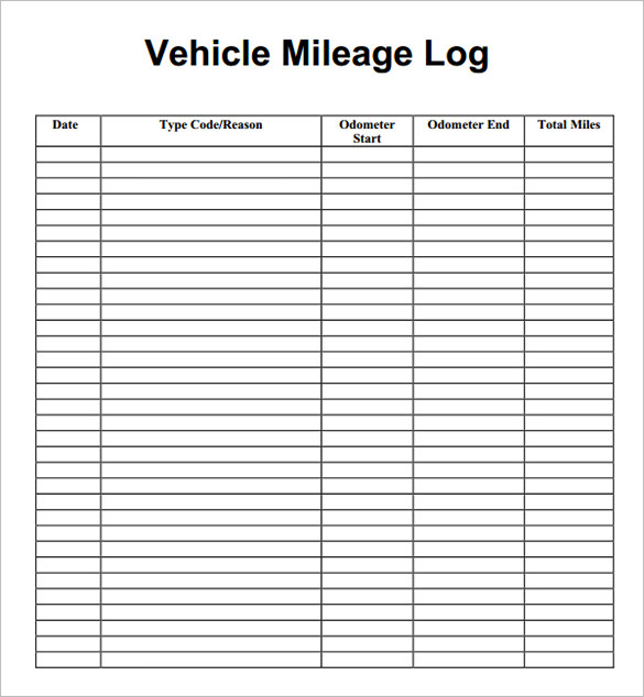 Downloadable Mileage Log 8 Mileage Log Templates Free Word Excel