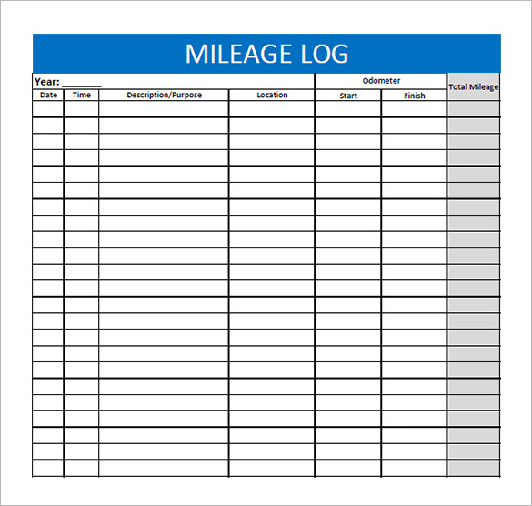 mileage log excel