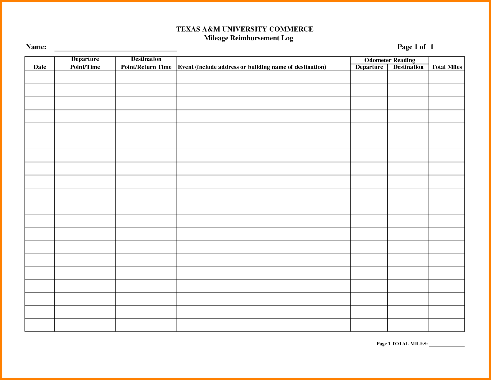 mileage reimbursement forms   Physic.minimalistics.co