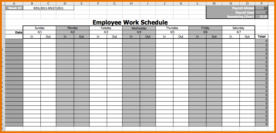 Monthly employee schedule template release icon work calendar