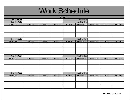 monthly employee schedule template   Manqal.hellenes.co